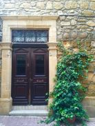 Cypriot homes are known to have doors as their focal points (Nicosia, Cyprus).