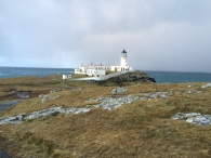Half of our tour group took the walk over the ridge to see the lighthouse. While it was beautiful, Scotland suddenly decided to throw all its weather at us: wind, sleet, hail. It was the most intense weather I experienced on my trip and we still had to make it back to the bus.