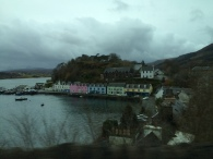 This is considered an iconic picture of Portree that I was able to take out of the bus's window. It's seen many times on postcards.