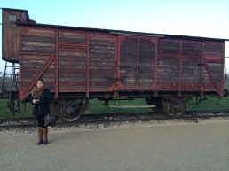 Original carriage at the Judenrampeplatform,Auschwitz-birkenau