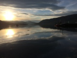 Taken in Ullapool, Scotland, sunrise on the water of the small fishing town.