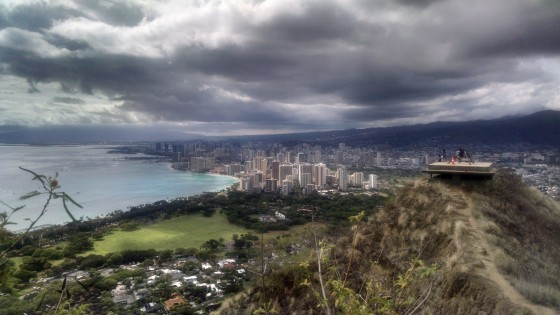 Amy Anderson _View From Top of Diamond Head_